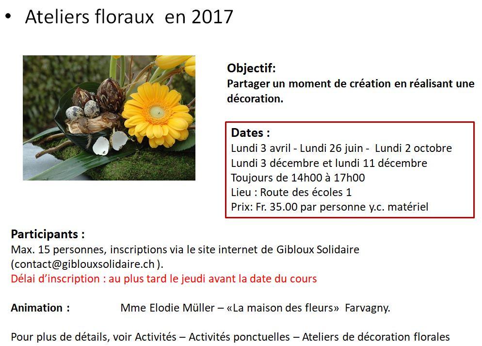 Ateliers floraux 2017